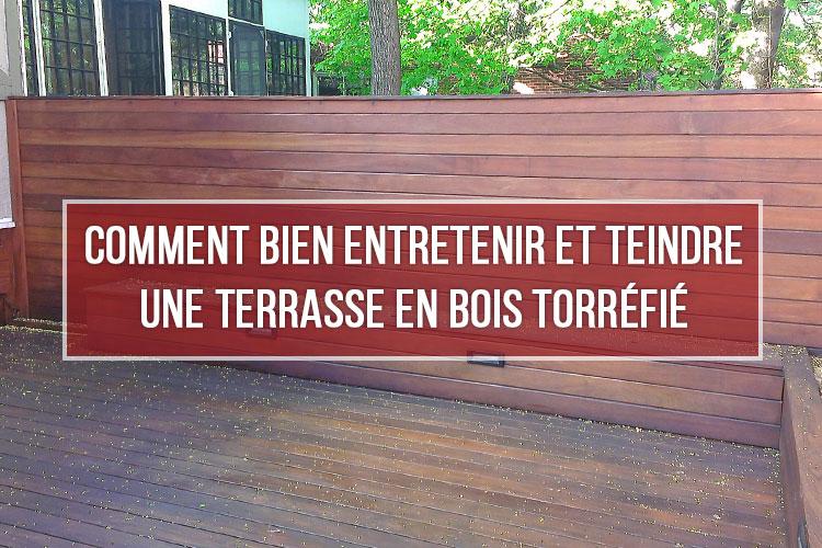Bien entretenir et teindre terrasse en bois torréfié