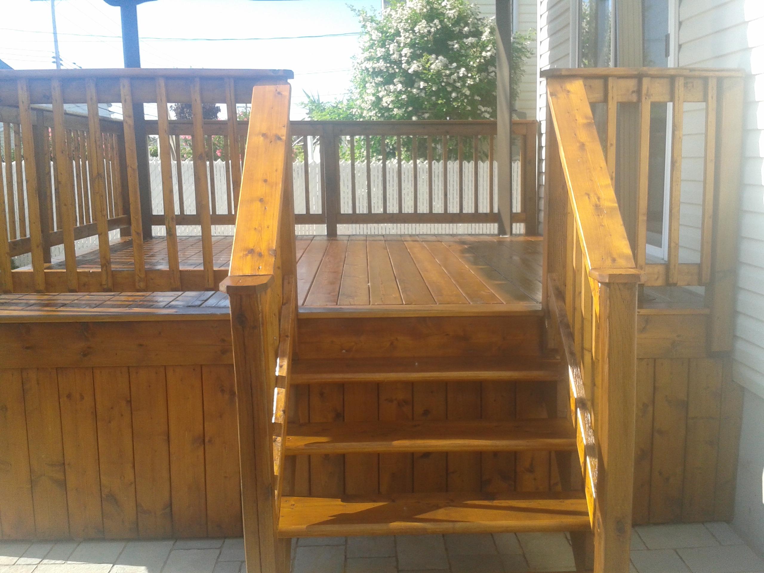 Teinture patio galerie bois extérieur entretien