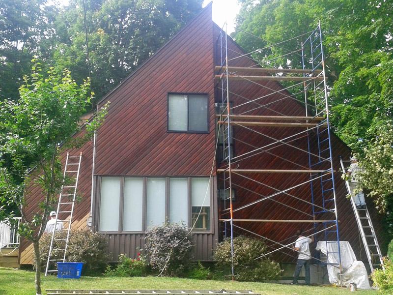 Rev tement de bois de maison probois les sp cialistes for Revetement de patio en bois