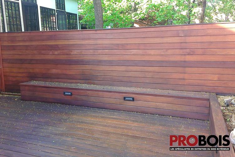 patio urbain en bois torr fi probois les sp cialistes en entretien du bois ext rieur 1. Black Bedroom Furniture Sets. Home Design Ideas