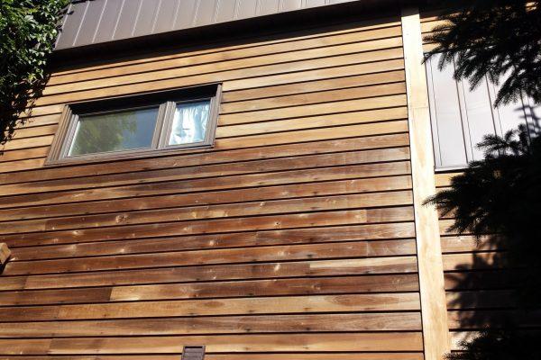revêtement maison en bois torréfié huilé